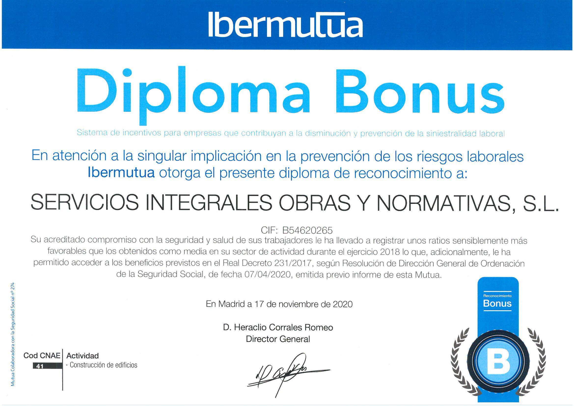 diploma bonus ibermutua